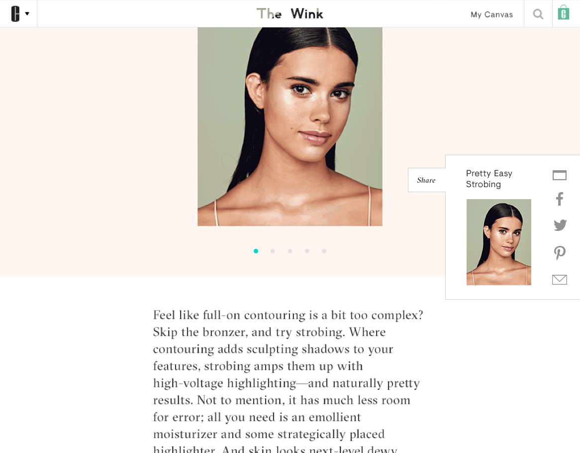 The Wink by Clinique article page