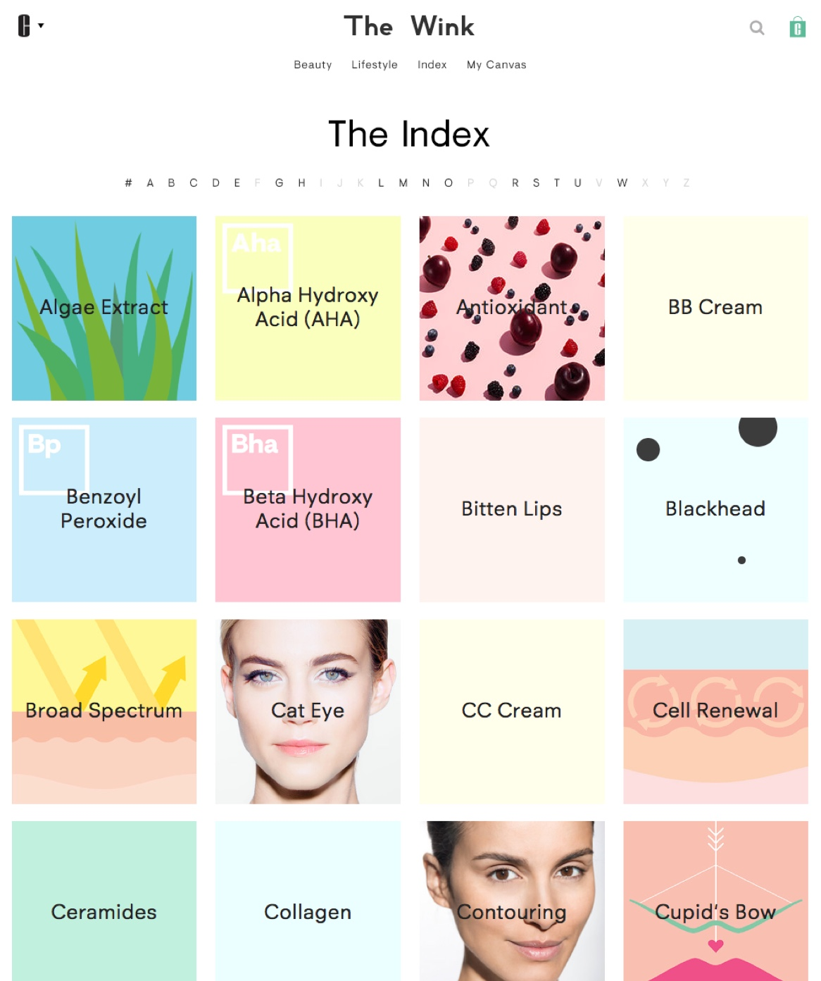 The Wink by Clinique Beauty Index